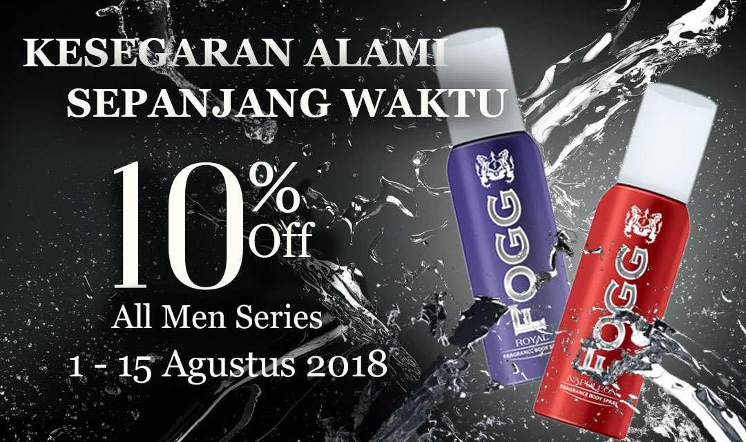 [DISKON 15% + 10%] FOGG PARFUME For All Men Variant Official Store