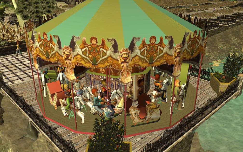 My Projects - TexMod Customized Add-Ins, MakeOvers for My Park - Patrick's Merry-Go-Round, A, Image 10