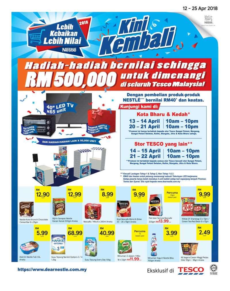 Tesco Malaysia Weekly Catalogue (12 Apr - 18 Apr 2018)