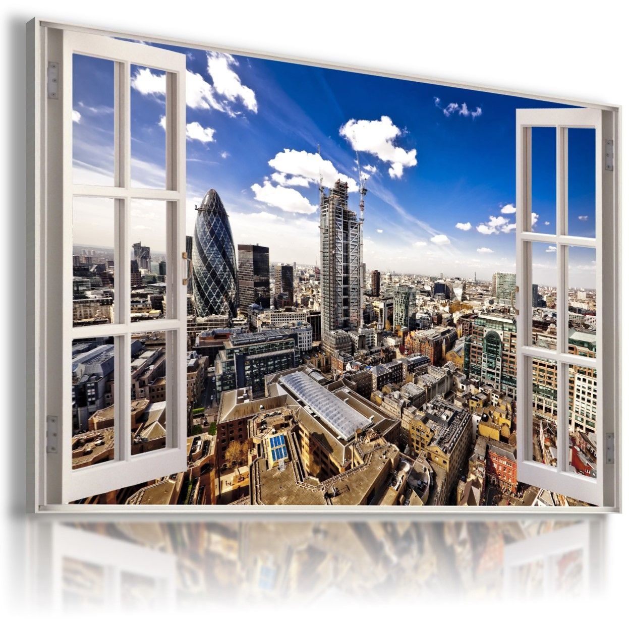 ITALY ROME CITY In 3D Window View Canvas Wall Art Picture Large W191 MATAGA .