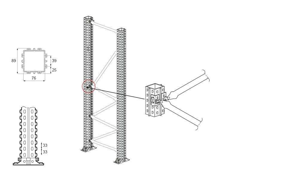 Scaffalatura Industriale Portapallet Porta Pallets Italfrom 22,70 mt  H 3,50 mt