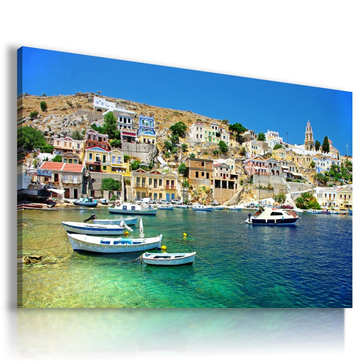 GREECE SEA BEACH PERFECT View Canvas Wall Art Picture Large SIZES  L38 MATAGA