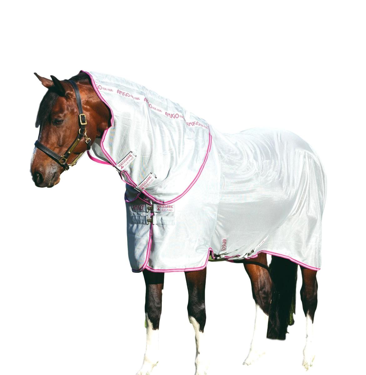 Horseware-Ireland-Amigo-Bug-Blanket-Fly-Sheet-with-Removable-Neck thumbnail 6