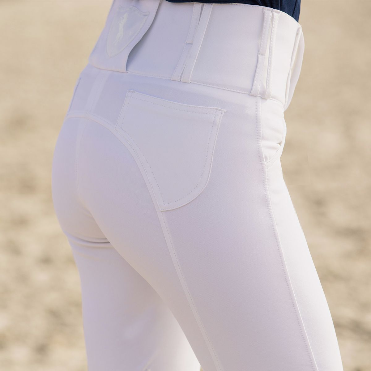Horze-Desiree-Women-039-s-Knee-Patch-Riding-Breeches-with-High-Waist-and-Bi-Stretch thumbnail 32