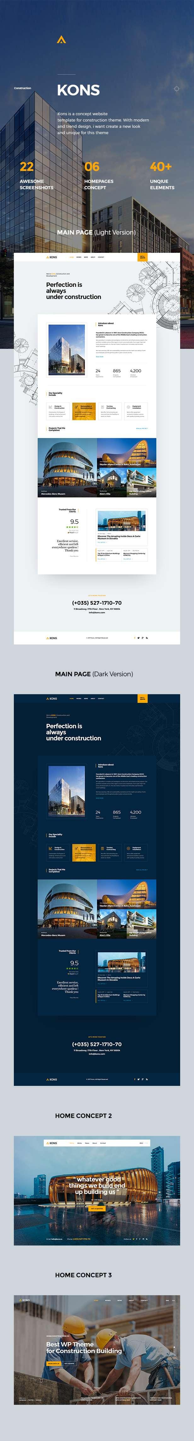 Kons ! Construction PSD Template - 6
