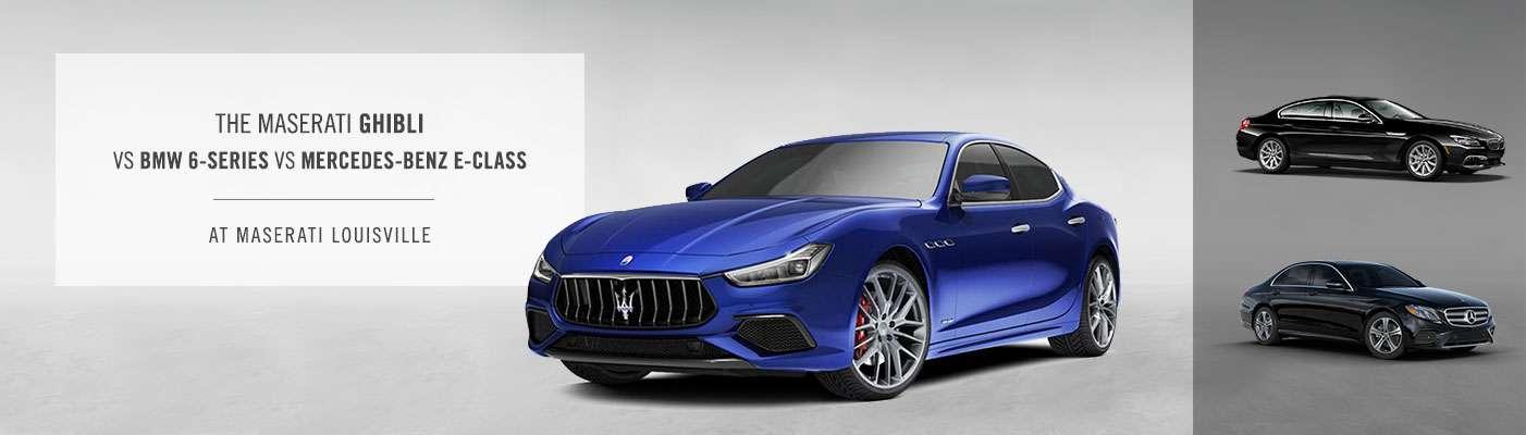2019 Maserati Ghibli vs. BMW 6-Series vs Mercedes-Benz E-Class