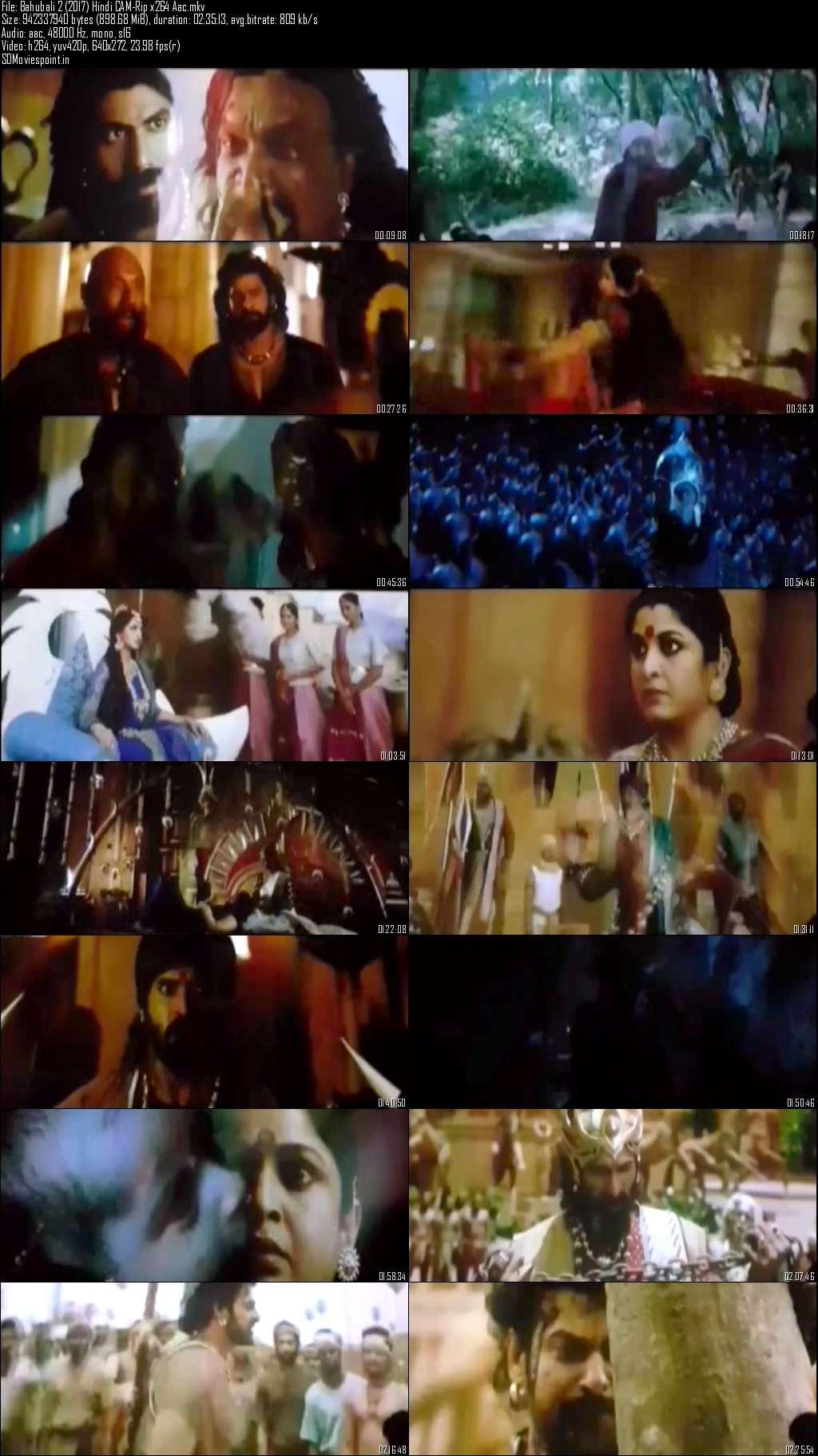Screen Shots Baahubali 2 (2017) Full Hindi Movie Download Free HD-CAM