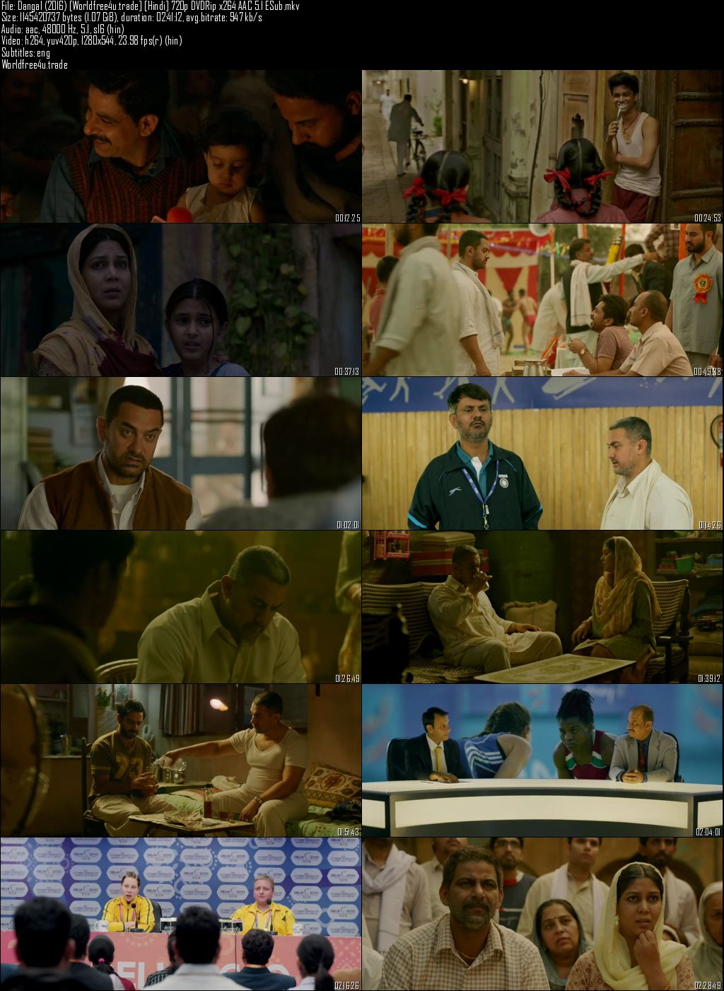 Screen Shots Dangal 2016 Full HD Movie Download DVDRip 720p
