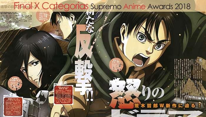Final X Categorias Supremo Anime Awards 2018