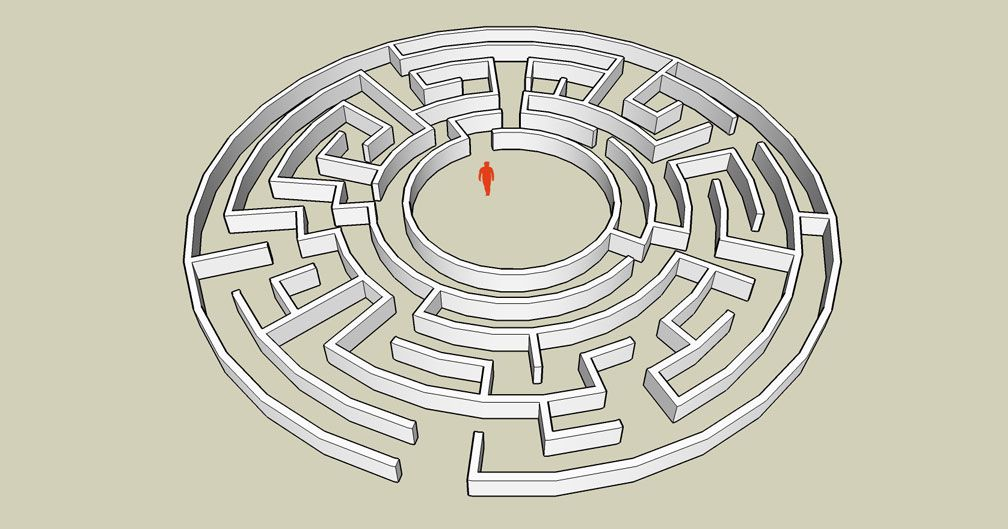 My Adventures In SketchUp: CSO Study: GTT's Hedge Maze - Sketch Displaying Trial CSO, Image 01