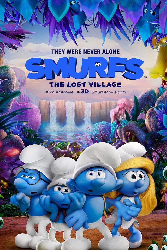 Poster Smurfs The Lost Village (2017) Full Movie Download Dual Audio Hindi