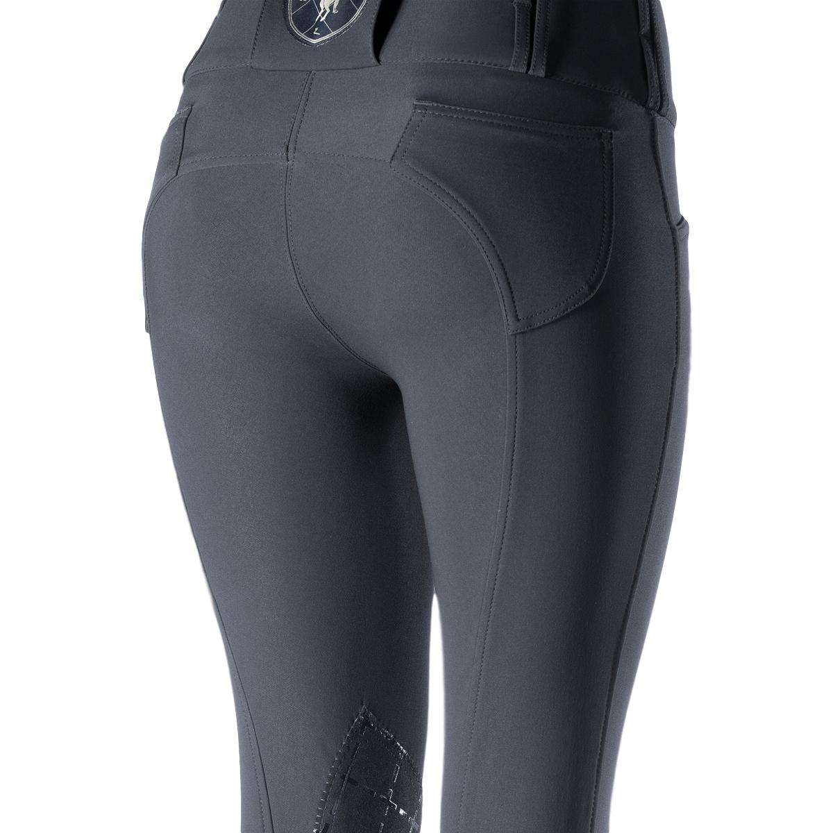 Horze-Desiree-Women-039-s-Knee-Patch-Riding-Breeches-with-High-Waist-and-Bi-Stretch thumbnail 18