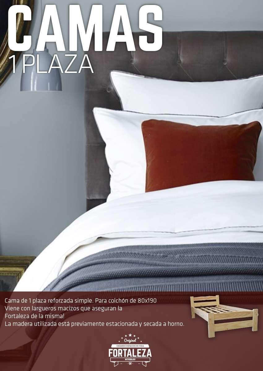 Cama 1 plaza pino pata l rosario cama de pino reforzada for Ofertas de camas 1 plaza