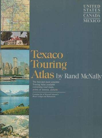 Texaco Touring Atlas By Rand McNally, United States, Canada, Mexico, (1965)