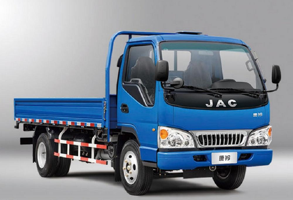 Xe tải jac 2t4 thùng lửng màu xanh
