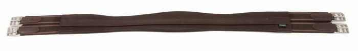 Shires-Wessex-Leather-Girth-in-Contoured-Cushioned-Leather-with-Roller-Buckles miniature 3