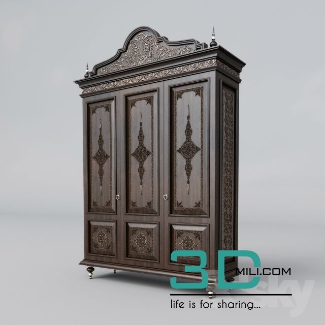 122  Wardrobe & Display cabinet 3D model - 3D Mili - Download 3D