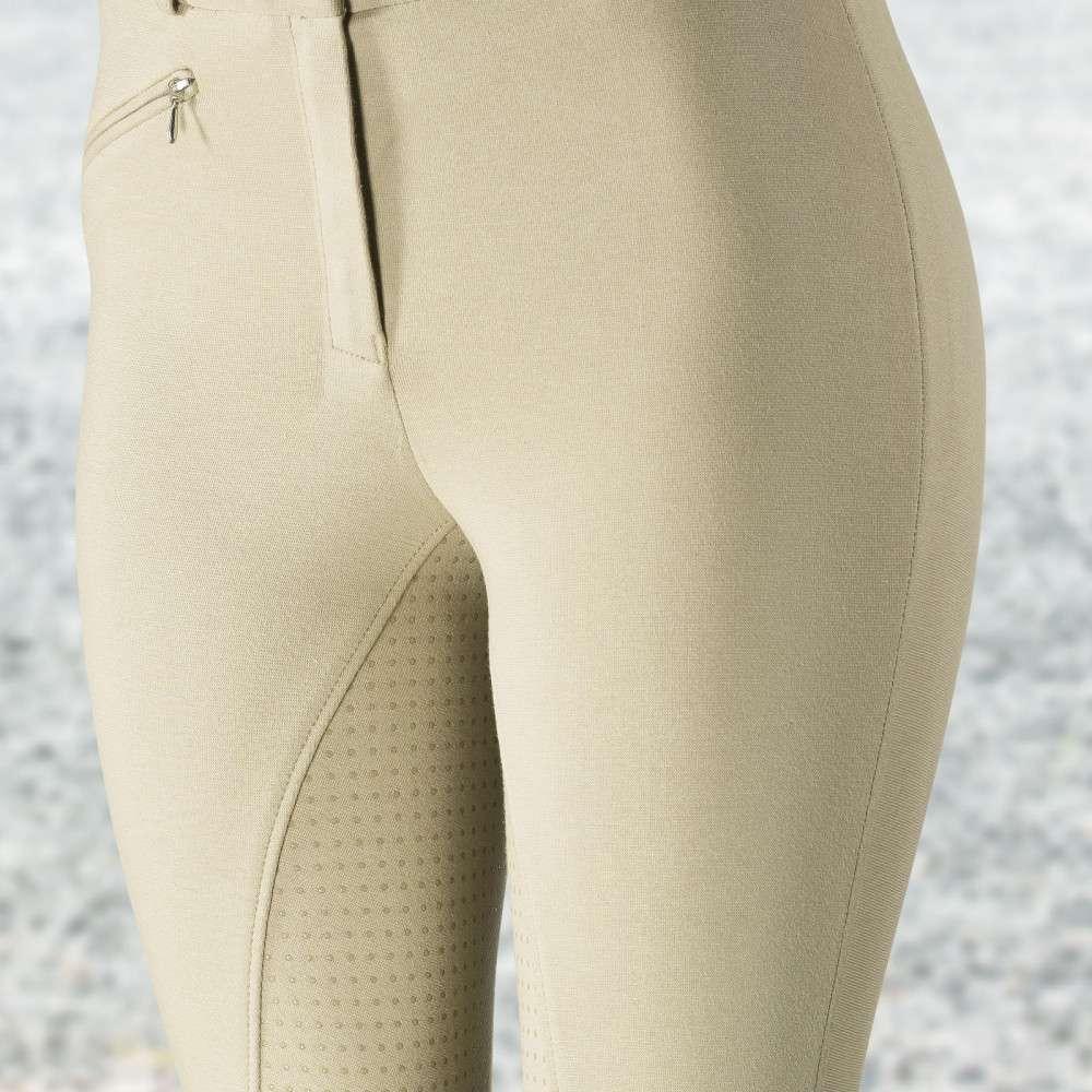 Horze-Women-039-s-Active-Silicone-Grip-Full-Seat-Riding-Breeches-Elastic-Leg-Bottoms thumbnail 4