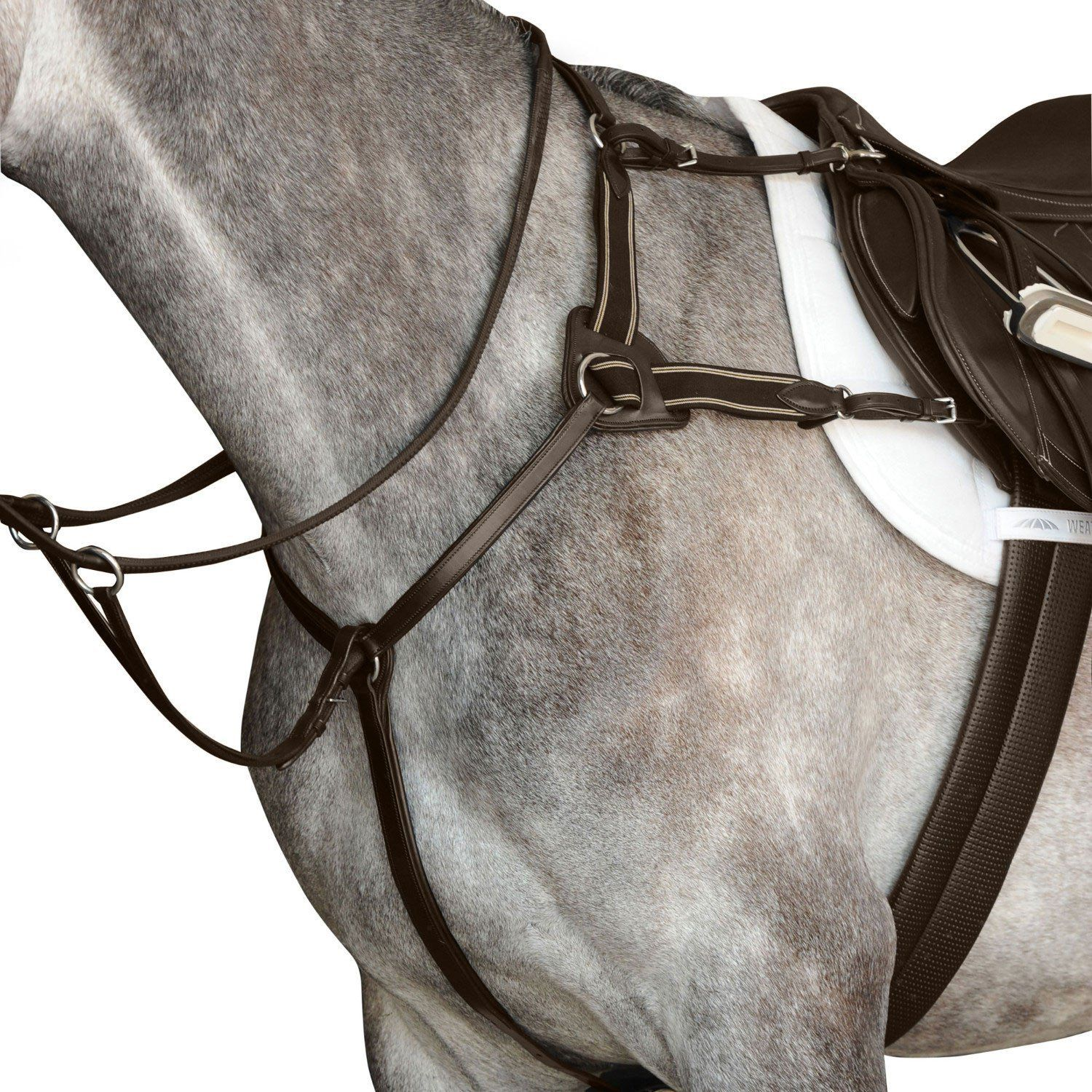 Collegiate 5-Point Leder Leder Leder Breastplate IV with Stainless Steel Fittings 430f4f