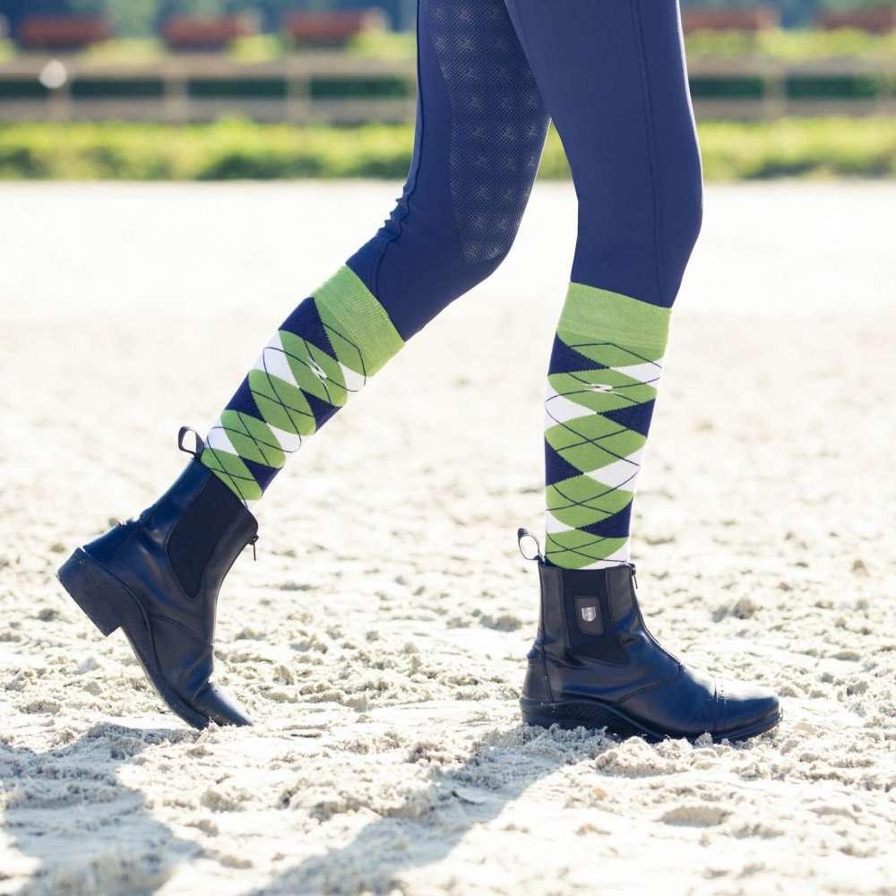 B Vertigo Iben High Riding Boot Socks with Reinforced Toe and Heel