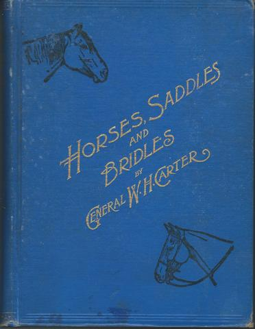Horses, saddles and bridles,, Carter, William H