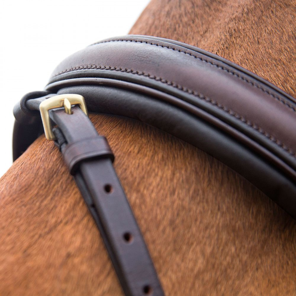 Horze-Crescendo-Lester-Snaffle-Bridle-with-U-Shaped-Browband-and-Anti-Slip-Reins miniature 17