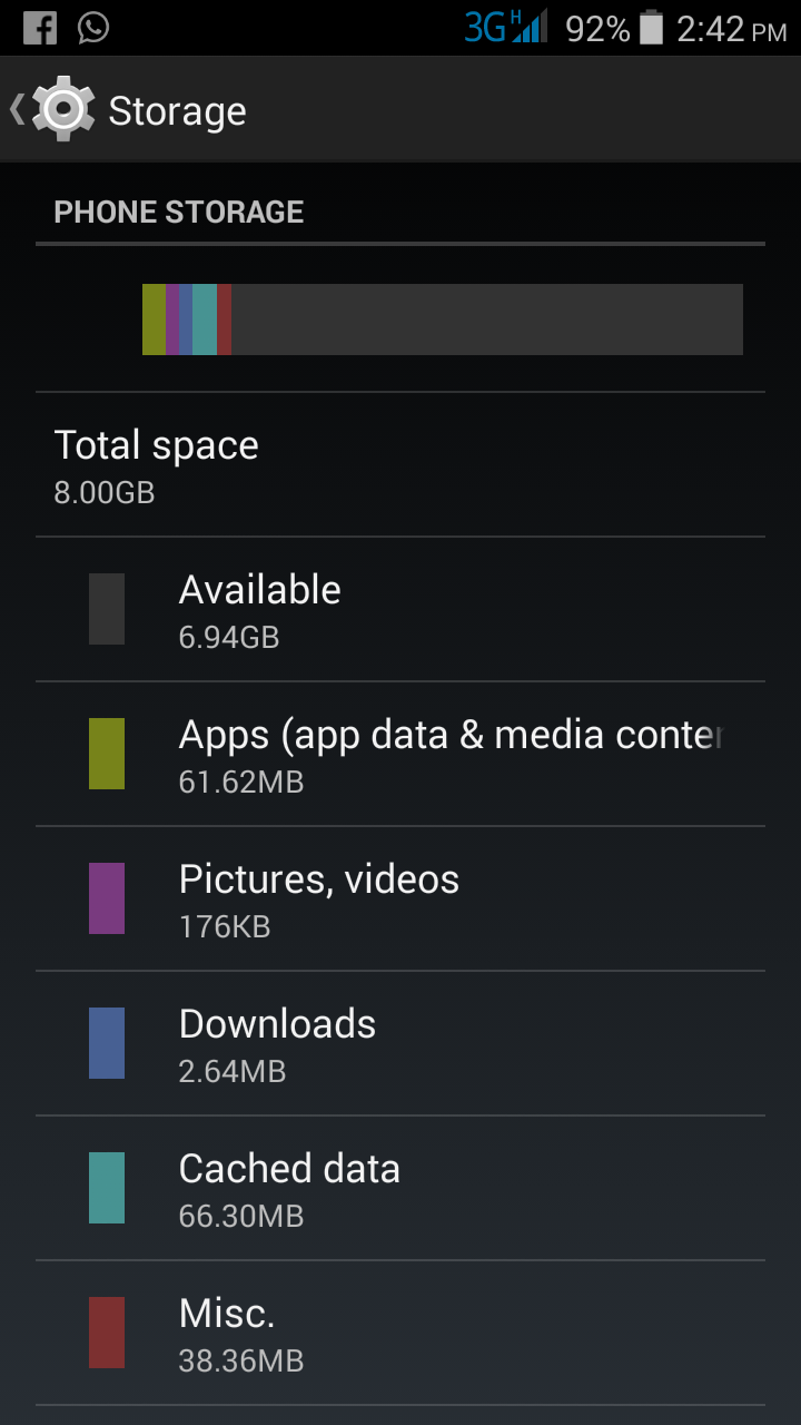 internal storage running out but i have plenty spaces