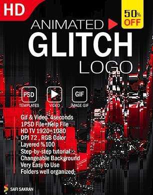 Gif Animated Glitch - Photoshop Templates - 21
