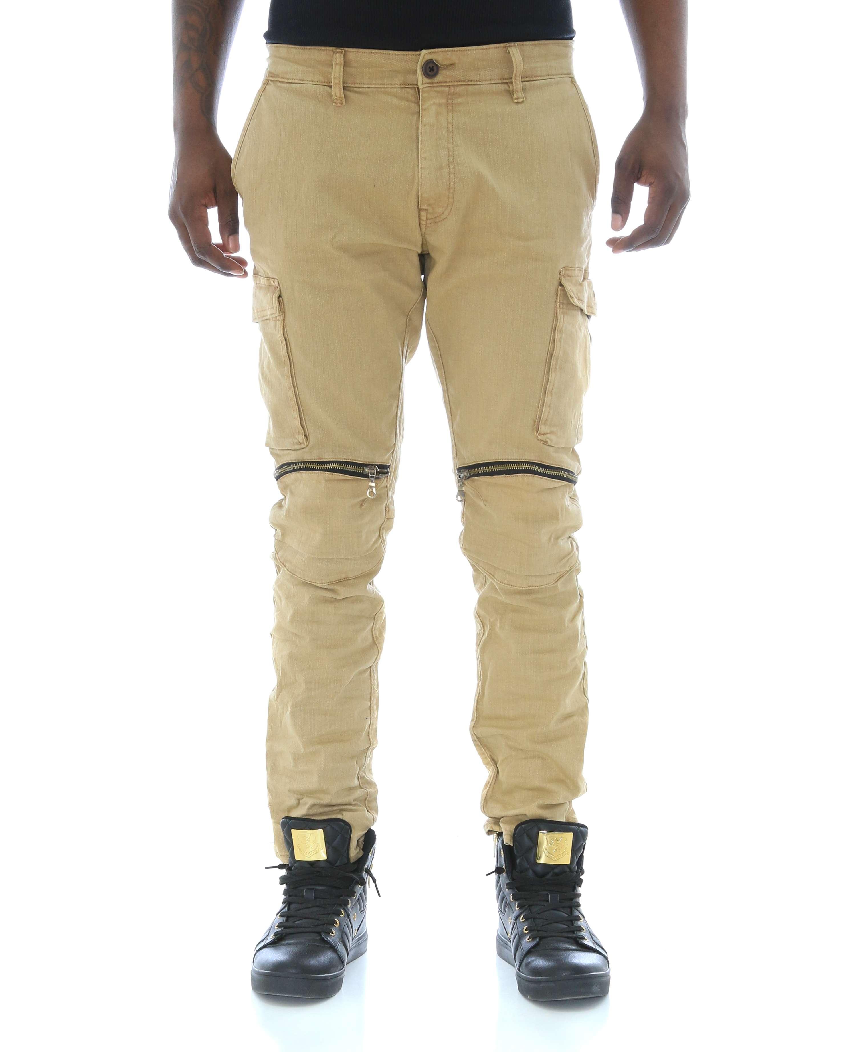 a91326036c96da Jordan Craig Men s Twill Tapered Leg Zipper Knee Cargo Pants