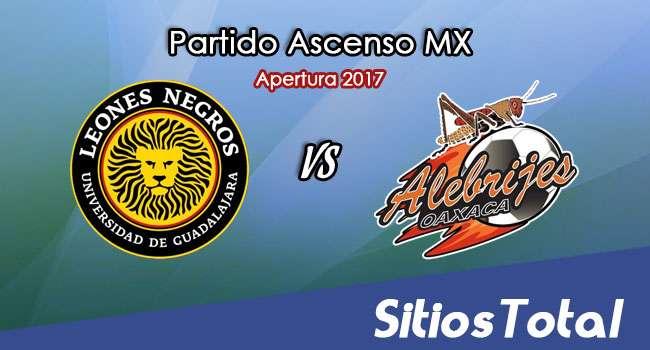 Leones Negros vs Alebrijes de Oaxaca en Vivo – Online, Por TV, Radio en Linea, MxM – Apertura 2017 – Ascenso MX