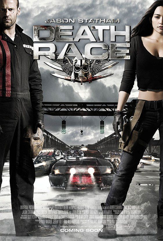 Poster Death Race (2008) 720p Dual Audio Hindi BluRay Download