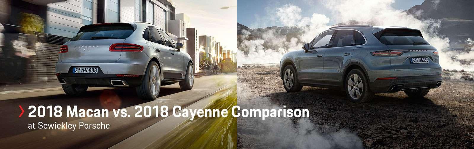 2018 Macan vs. 2018 Cayenne Comparison