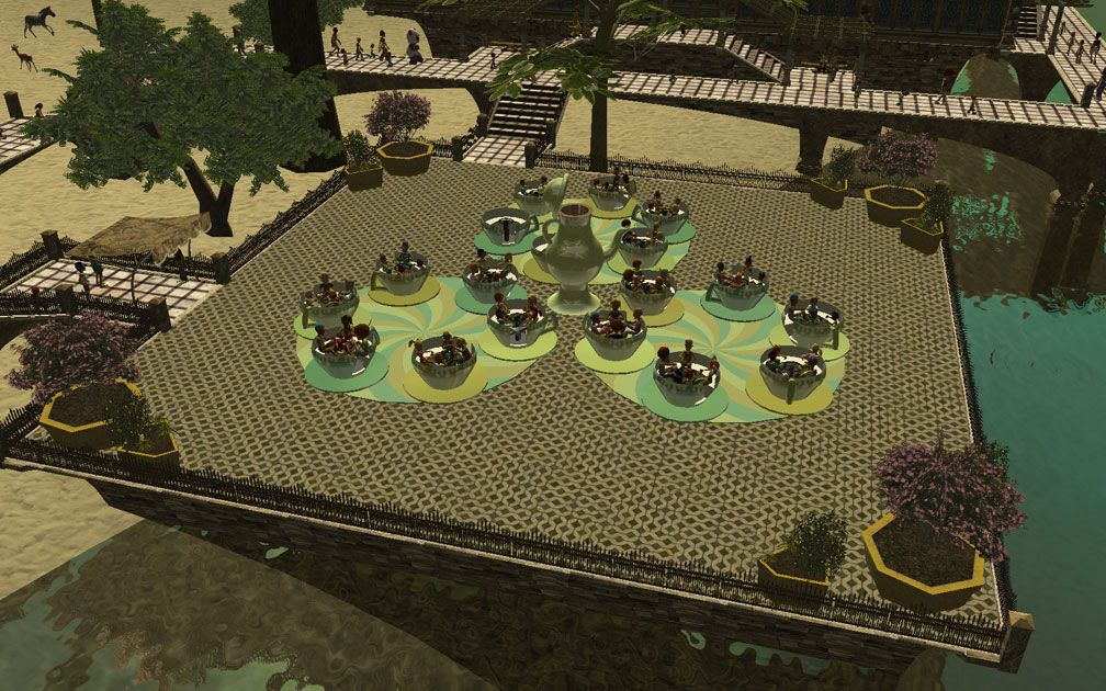 My Projects - CSO's I Have Imported, Planters And Pool Fencing - Screenshot Displaying Planters Arranged Around Tea Cups Ride, Image 03