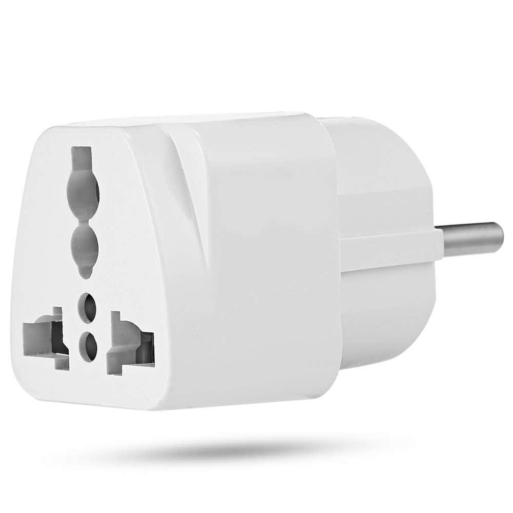 2x Universal UK US AU to EU European Power Socket Plug Adapter Travel Converter