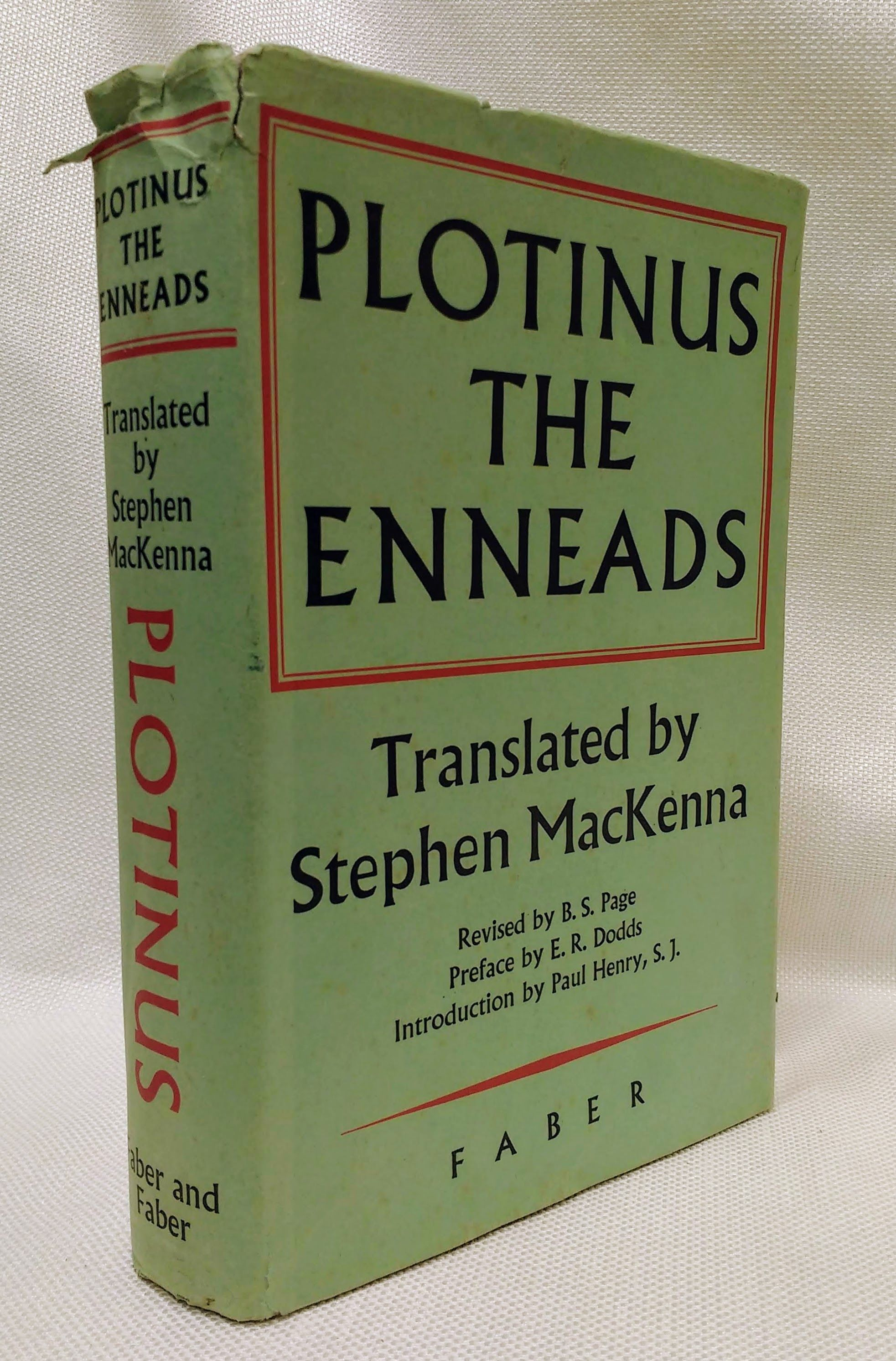 The Enneads (Third Edition), Plotinus; MacKenna, Stephen [translator]; Page, B.S. [revision]; Dodds, E.R. [preface]; Henry, Paul S.J. [introduction]