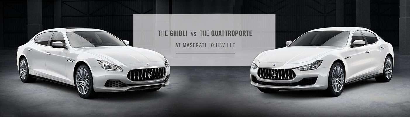 Maserati Ghibli vs. Maserati Quattroporte