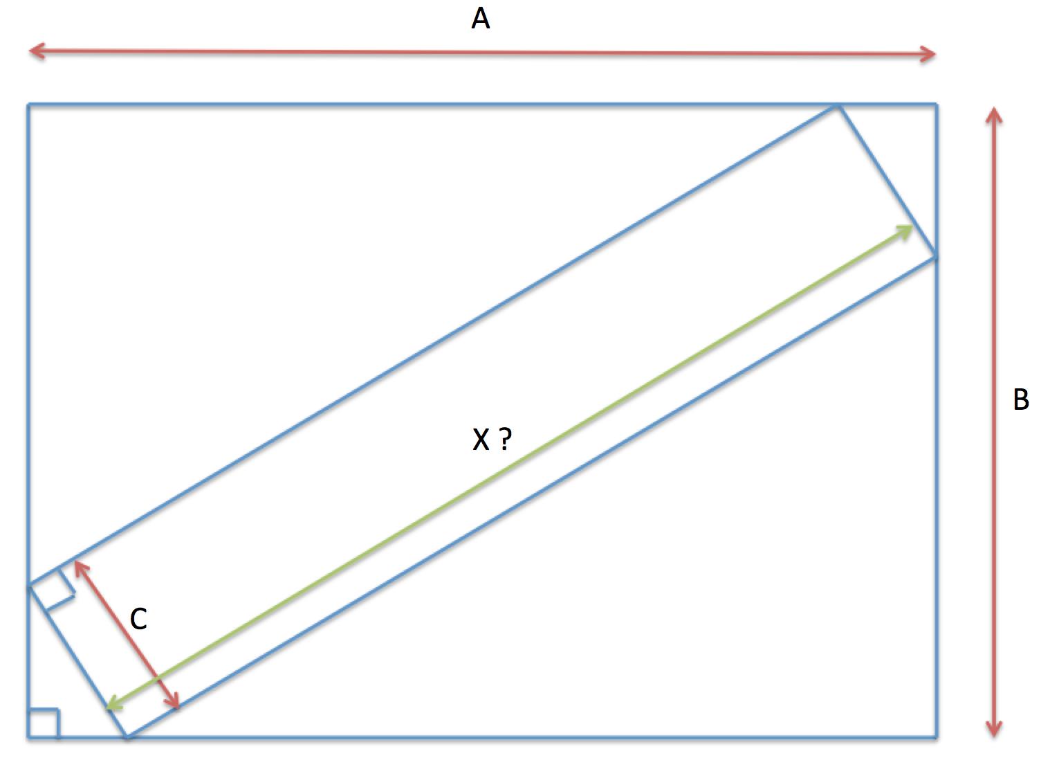 croquis rectangle inclus