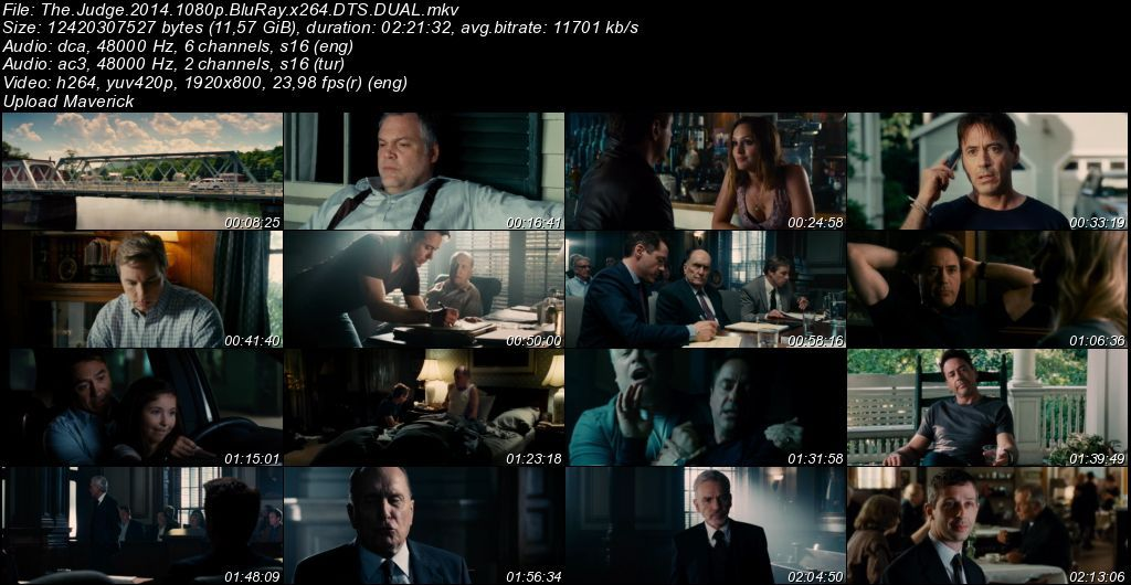 Yargıç - The Judge - 2014 BluRay 1080p DuaL MKV indir