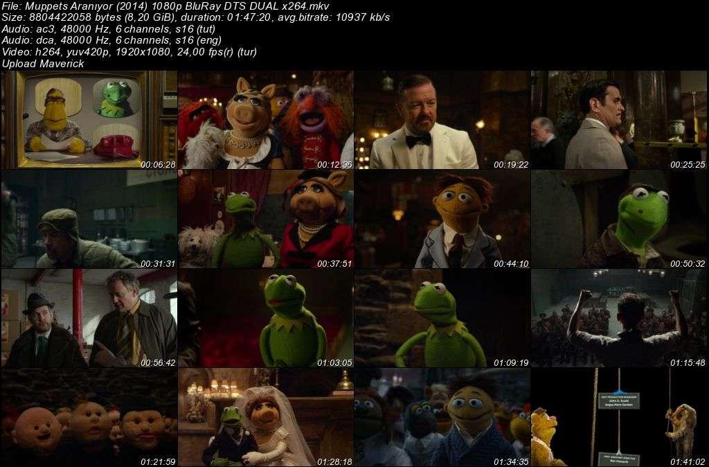 Muppets Aranıyor - Muppets Most Wanted - 2014 BluRay 1080p DuaL MKV indir