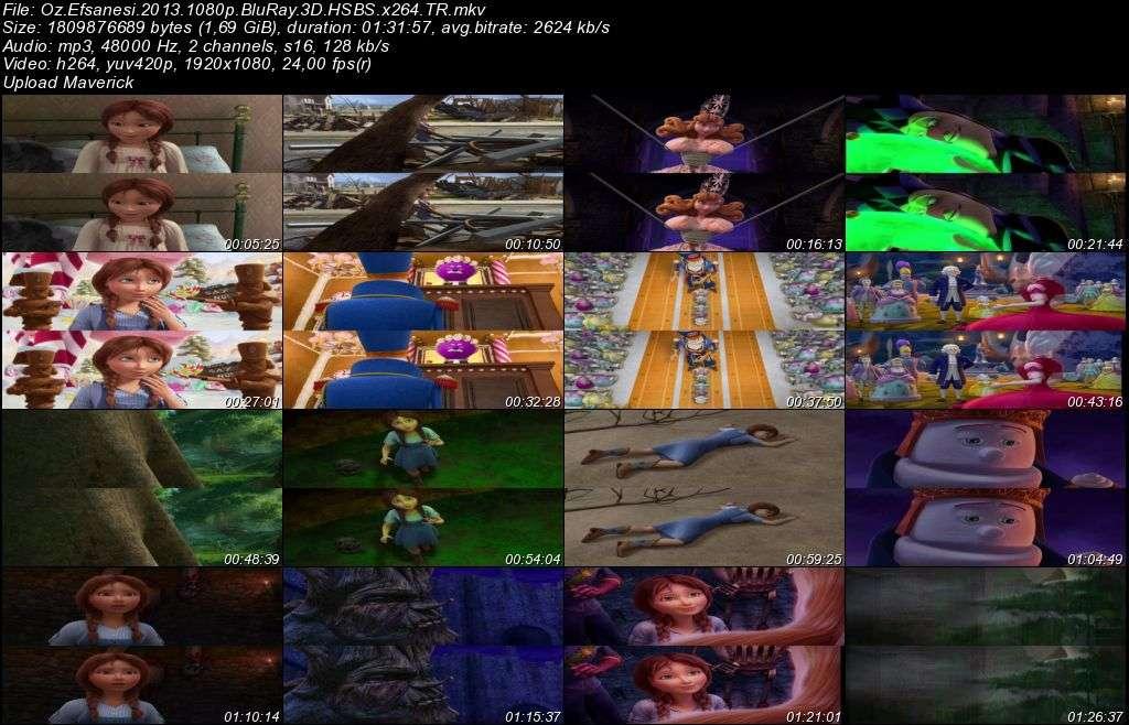 Oz Efsanesi - 2013 3D BluRay m1080p H-SBS Türkçe Dublaj MKV indir