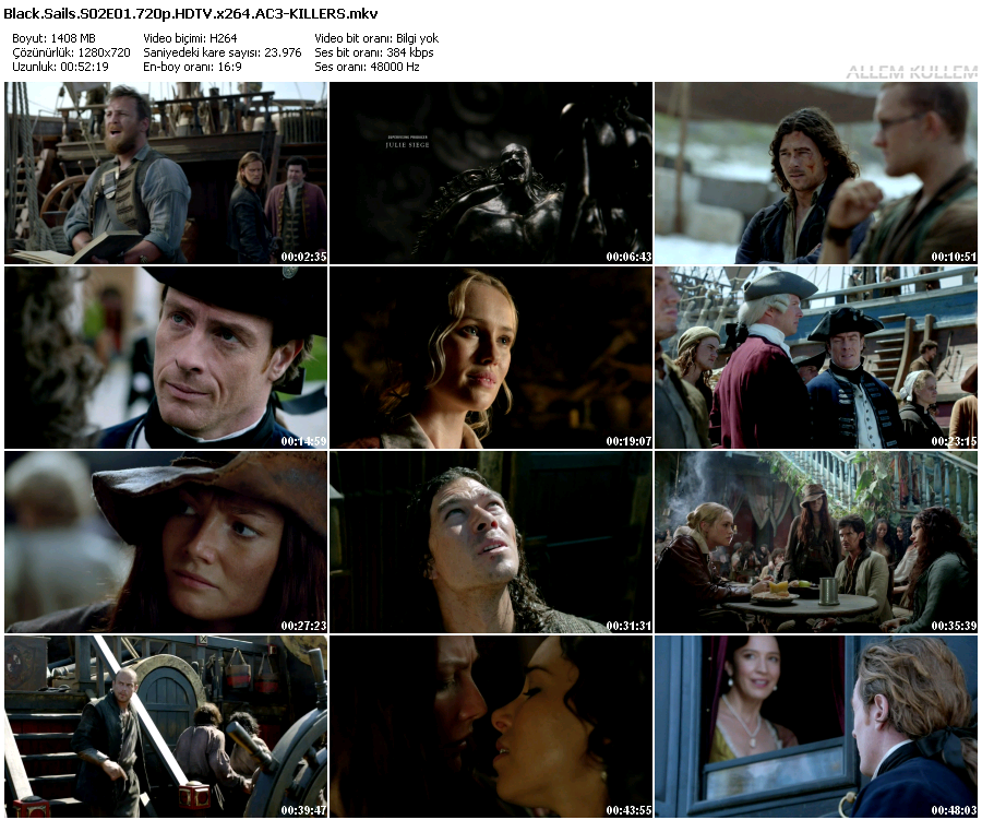 Black Sails S02E01 (Türkçe Altyazı) 720p HDTV x264 AC3