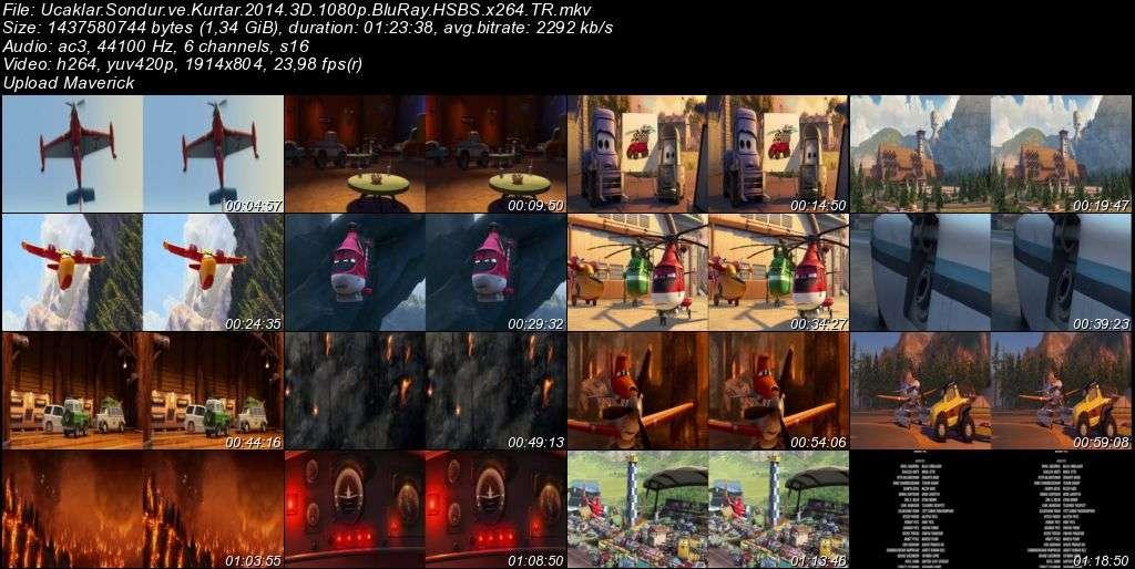 Uçaklar 2: Söndür ve Kurtar - 2014 3D BluRay m1080p H-SBS Türkçe Dublaj MKV indir