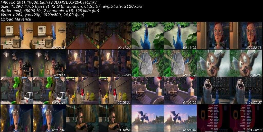 Rio 1-2 BoxSet 3D BluRay m1080p H-SBS Türkçe Dublaj MKV indir