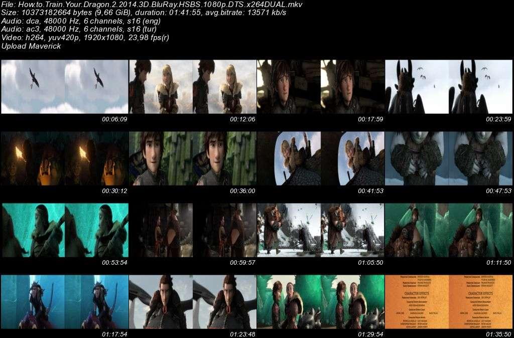Ejderhani Nasil Egitirsin 2 - 2014 3D BluRay 1080p Half-SBS DuaL MKV indir