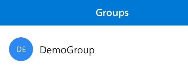 Office Groups iOS