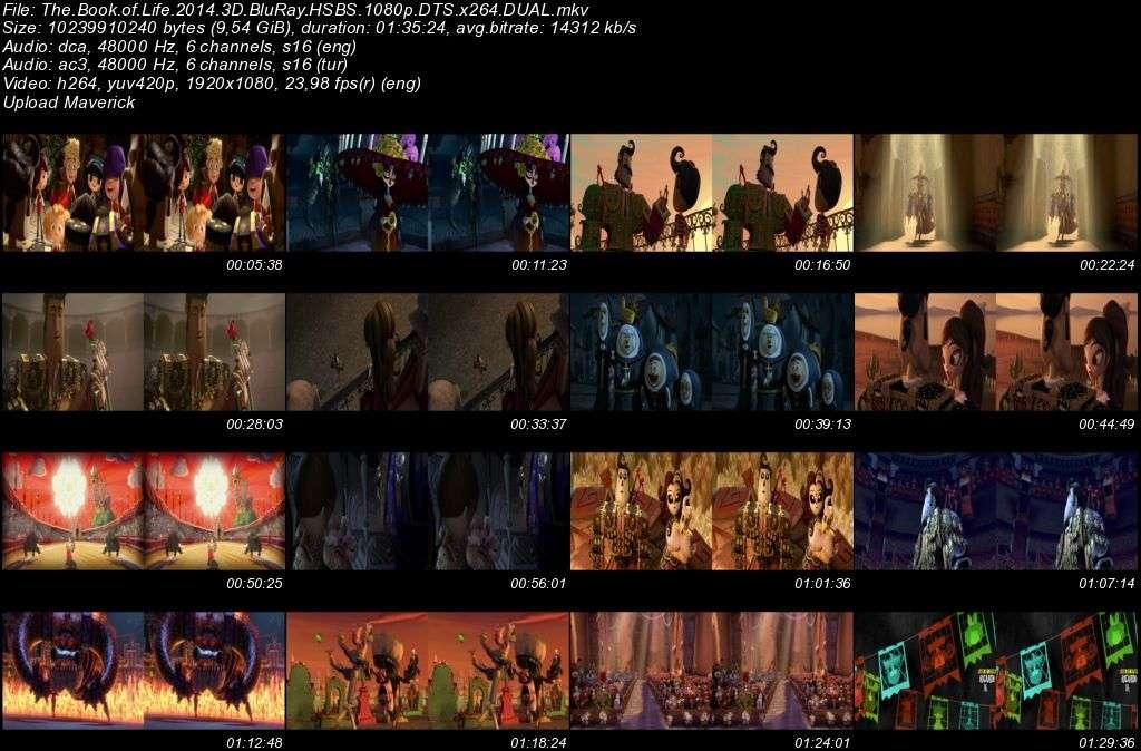 Hayat Kitabı - 2014 3D BluRay 1080p Half-SBS DuaL MKV indir