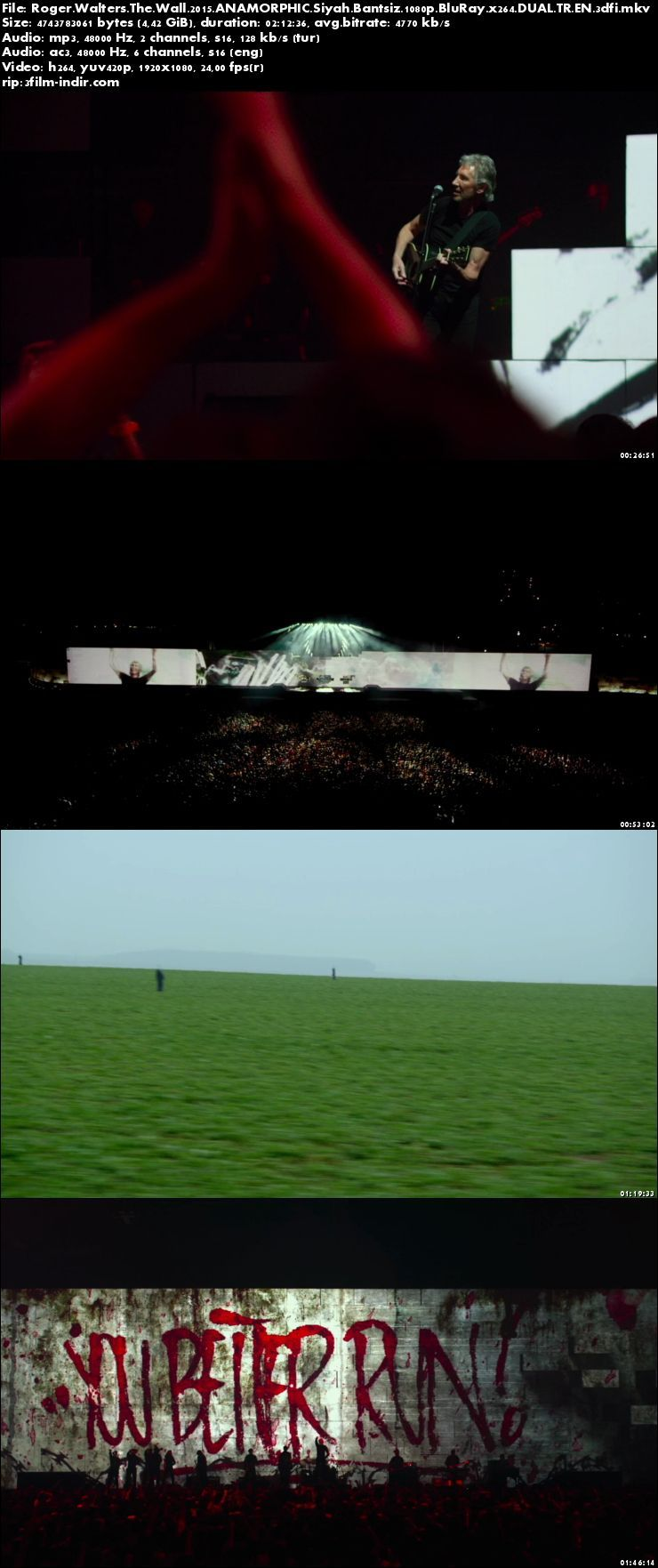 Roger Waters the Wall 2014 (ANAMORPHIC Siyah Bantsız BluRay m1080p) Türkçe Dublajlı full indir