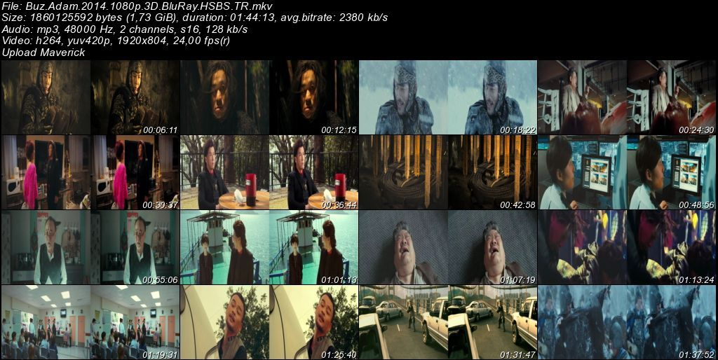 Buz Adam - 2014 3D BluRay m1080p H-SBS Türkçe Dublaj MKV indir