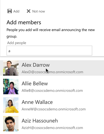 Office Groups Add Member
