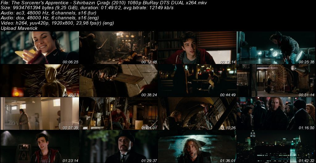 Sihirbazın Çırağı - 2010 BluRay 1080p DuaL MKV indir